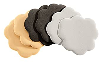 Foot Petals Black/Buttercup/Silver Combo Tip Toes, Triple Pack,Blk/Btr/Slv Combo,one size