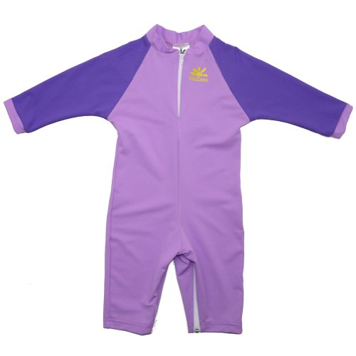 Camellia Sun Protective Baby Suit by NoZone in Lavender/Purple, 12-18 months