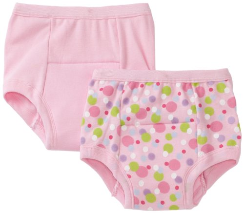 Green Sprouts Unisex Baby/Toddler Training 2 Pack Underwear, Pink, 3T