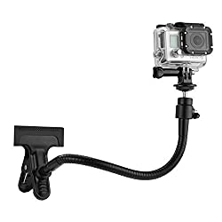 CamKix Clamp Mount for GoPro - Dual Function Clip Mount for All GoPro Hero Models and Other Compact Cameras with Tripod Socket- Includes 1 Clamp Mount / 1 Ball & Socket Mount / 1 10
