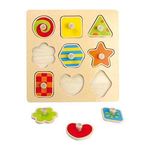 Legler - Puzzle de madera con formas, 9 piezas (4754.0)