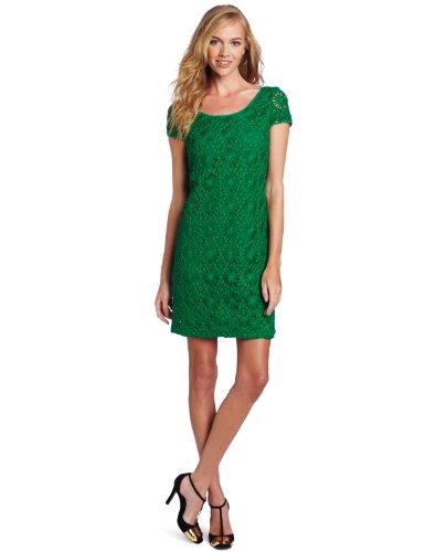 Cluny Women's Lace Shift Dress, Emerald, 6