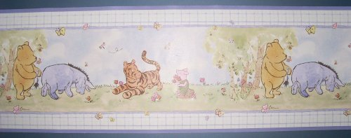 Disney Baby Springtime Winnie the Pooh Wall Border Imperial Wallpaper Eeyore Tigger Piglet Prepasted 5 Yards - 1