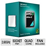 AMD Athlon II X4 631 2.6GHz 4×1 MB L2 Cache Socket FM1 100W Quad-Core Desktop Processor – Retail AD631XWNGXBOX