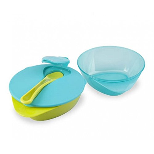 Tommee Tippee Explora Easy Scoop Feeding Bowls With Lid & Spoon (Boy) front-822442