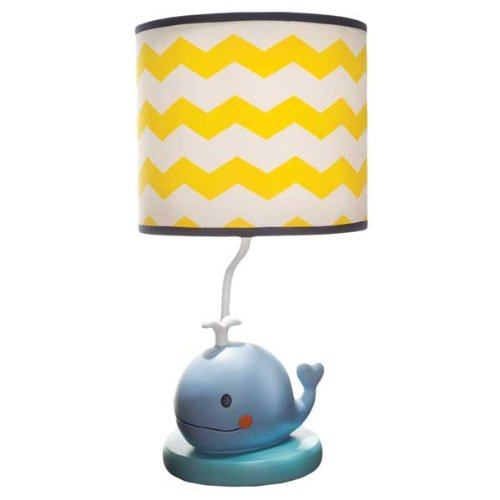 Kids Line Lamp Base And Shade, Sail Away