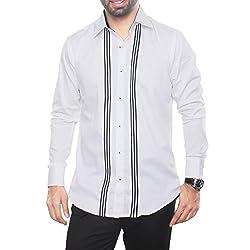 VinaraTrends White Color Cotton Shirt For Men