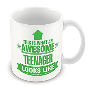 GREEN This is what an AWESOME Teenager Looks like CERAMIC Mug Gift idea work