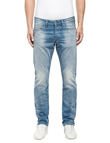 Replay Waitom-Pantaloni Uomo,    Blu (Blue Denim 10) W32/L34 (32)