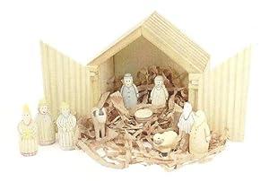 East of India Wooden Christmas Nativity Set - Christmas Gift Idea