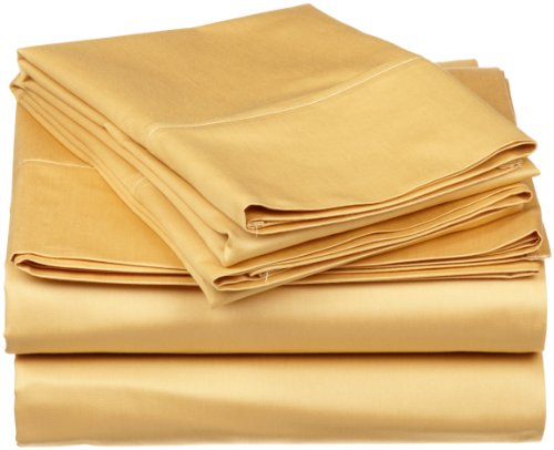 Impressions Genuine Egyptian Cotton 300 Thread Count Twin Xl 3-Piece Sheet Set Solid, Gold front-773640