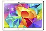 Samsung Galaxy Tab S 10.5 Pollici (26,7 cm) Tablet (Processore Octa Core - quad 1,9 GHz + quad 1,3 GHz, 3GB RAM, Memoria interna 16GB espandibile tramite MicroSD, Fotocamera 8.0Mpx + frontale 2.1Mpx, 4G LTE, Wi-Fi, Android 4.4 Kit Kat) Bianco [Italia]