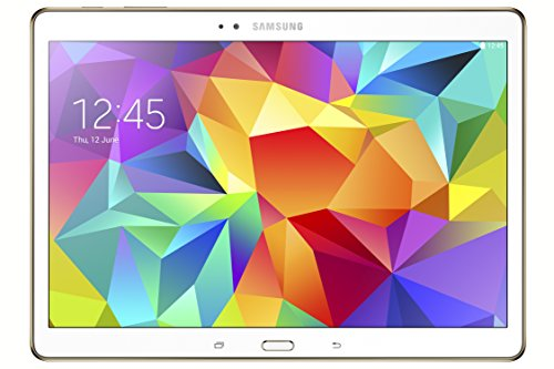 Samsung Galaxy Tab S 10.5 Pollici (26,7 cm) Tablet (Processore Octa Core – quad 1,9 GHz + quad 1,3 GHz, 3GB RAM, Memoria interna 16GB espandibile tramite MicroSD, Fotocamera 8.0Mpx + frontale 2.1Mpx, 4G LTE, Wi-Fi, Android 4.4 Kit Kat) Bianco [Italia]