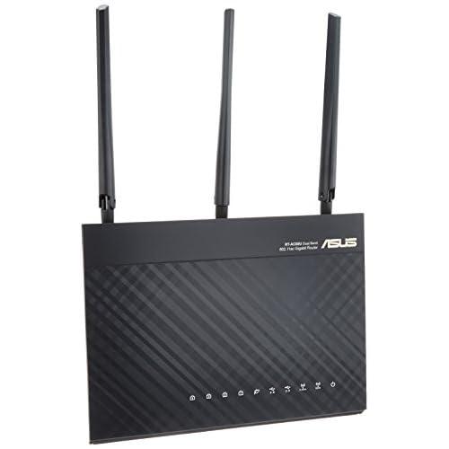 ASUS 11ac/n/a/b/g 1300+600Mbpsハイパワー無線LANルーター【iPhone6/Android/PSV/3DS対応】 RT-AC68U (100GBクラウドストレージ1年間無料/QoS機能)