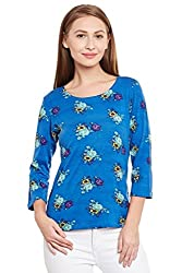 PURYS Blue floral t-shirt - Small