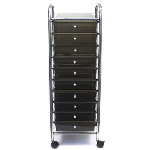 Brand New Cropper Hopper Home Center Rolling Cart W/10 Drawers-15.25