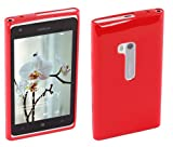 Works with Nokia Licensed Silicone Case Cover for Nokia Lumia 900 - Red