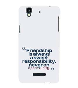 EPICCASE Sweet friendship Mobile Back Case Cover For YU Yureka (Designer Case)