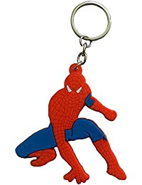 Techpro Single Sided Spiderman Key Chain (Multi-Color)