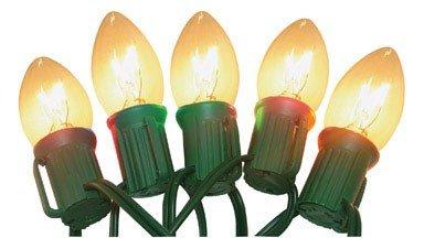 Celebrations Lighting Indoor/Outdoor 25 C7 String Light Set, Clear Bulbs