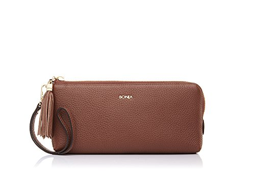 bonia-womens-brown-tassel-pouch