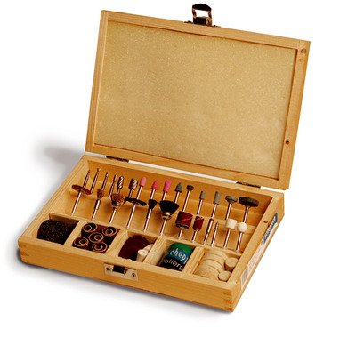 Scheppach-Werkzeug-Set-103-Teile-im-Holzkoffer-fr-Dekupiersge-88002730