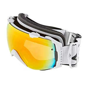 Smith I/O Snow Goggle - White Frame with Red Sol-X and Blue Sensor Lenses