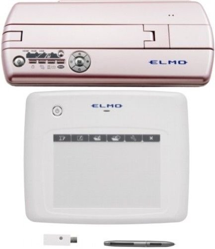 "Elmo 1337-37 Classroom Mo-1 Pink Versatile Ultra Compact Visual Presenter And Cra-1 Wireless Pen Tablet Bundle System, 1/3.2"" 5 Megapixel Cmos Sensor Image Pickup Device, 2048 H X 1536 V Effective Pixels, 8X Digital Zoom, F2.9 Lens, Auto - One-Push And Ma"