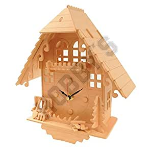 Amazon.com: Cuckoo Clock: Wood Craft Assembly Wooden ...