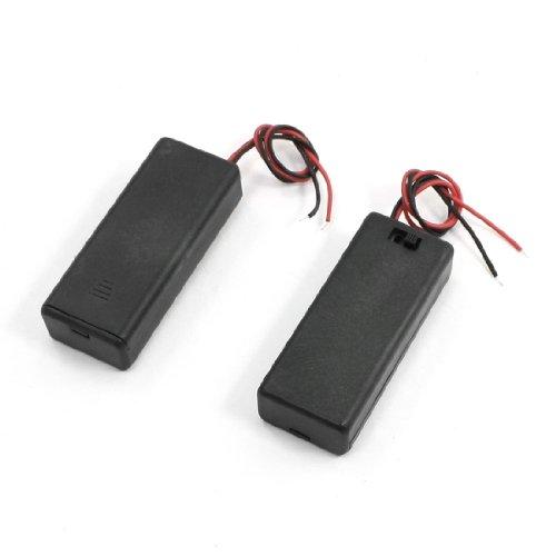 Batteriegehäuse mit Deckel, mit Feder, für 2 AAA-Batterien mit 1,5V, 2 Stück