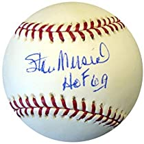 Stan Musial autographed Baseball inscribed HOF 69