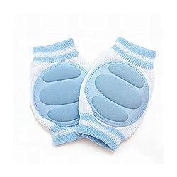NammaBaby Knee/Crawl Pad White And Blue -1 Pair