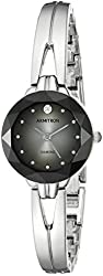 Armitron Women's 75/5323DGSV Diamond-Accented Degrade Dial Silver-Tone Bangle Watch