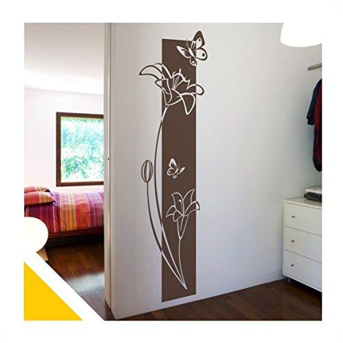 wandtattoo florales blumen wandbanner mit schmetterlinge. Black Bedroom Furniture Sets. Home Design Ideas