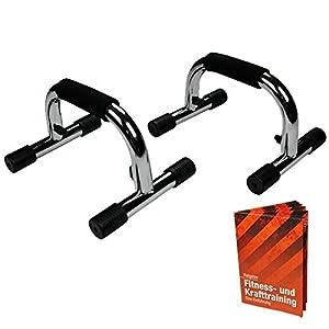 2 x Liegestützgriff Metall Iron-Max Liegestützgriffe von BB Sport mit Anwendungsbroschüre