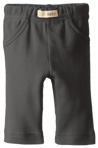 L'Ovedbaby Unisex-Baby Newborn Organic Signature Pants, Gray, 6/9 Months front-772558