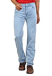 Ice Blue Colored Stretchable Silky Denim From Bottoms For Men-36