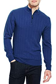 Wool Rich Zip Through Jumper with Cashmere [T30-1265B-S]