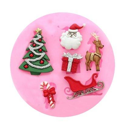 Funny Kitchen Mold Tray Set Mini Christmas Silicone Diy Fondant Sugar Mold Candy Making Molds