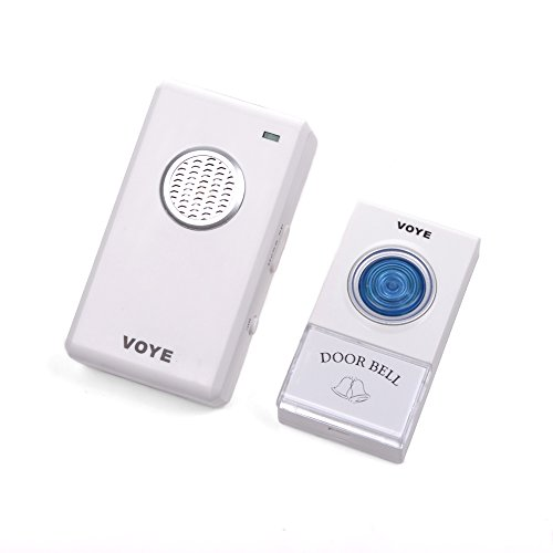 Cosmos ® White Color Home Security Digital Wireless Control Cordless Remote Chime Door Bell 38 Polyphony Sounds