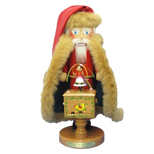 "Kurt Adler 18-Inch Limited Edition Steinbach Twelve Days of Christmas Wind-U Musical ""Nine Ladies Dancing"" Nutcracker"