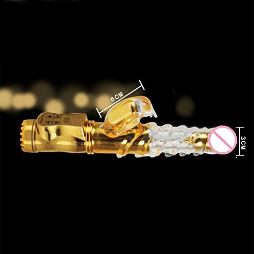 12 Speed Jack Rabbit silicone Vibrator Gold Flexible Thrusting Dildo G Spot Vibrator Adult Toys Sex Products for Women Sex Toys