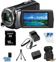 Sony HDR-CX210 HDR-CX210B HDR-CX210/B High Definition Handycam 5.3 MP Camcorder with 25x Optical Zoom (Black) + 16GB High Speed SDHC Card + High Capacity Battery + Rapid AC/DC Charger + Deluxe Case + Much More!