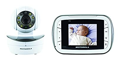 Motorola Digital Video Baby Monitor with Video 2.8 Inch Color Screen, Infrared Night Vision, with Camera Pan, Tilt, and Zoom