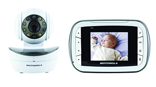 motorola digital video baby monitor with video 2 8 inch color screen infrare. Black Bedroom Furniture Sets. Home Design Ideas