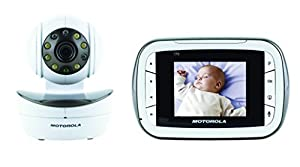 Motorola Wireless Digital Video Baby Monitor with Video 2.8 Inch Color Screen, Infrared Night Vision, with Camera Pan, Tilt, and Zoom