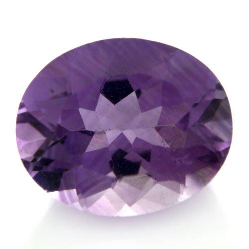 Natural Africa Purple Amethyst Loose Gemstone Oval Cut 11*9mm 3.65cts VS Grade