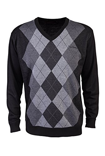 pierre-cardin-mens-new-season-v-neck-argyle-knitted-jumper-large-black-charcoal