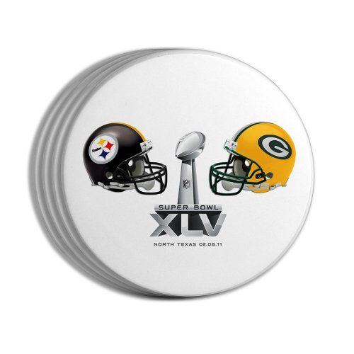 NFL Super Bowl XLV Dueling 4-Pack Coasters