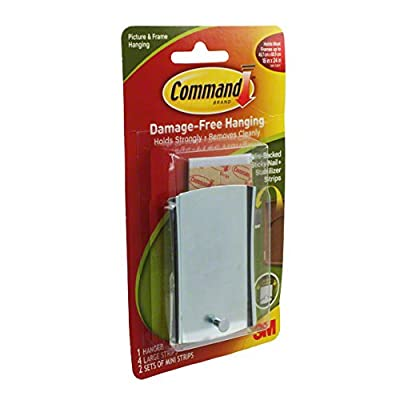 3M Command Sticky Nail Sawtooth Hanger, White